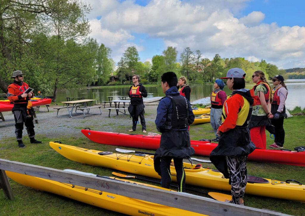 Instruktioner inför paddling